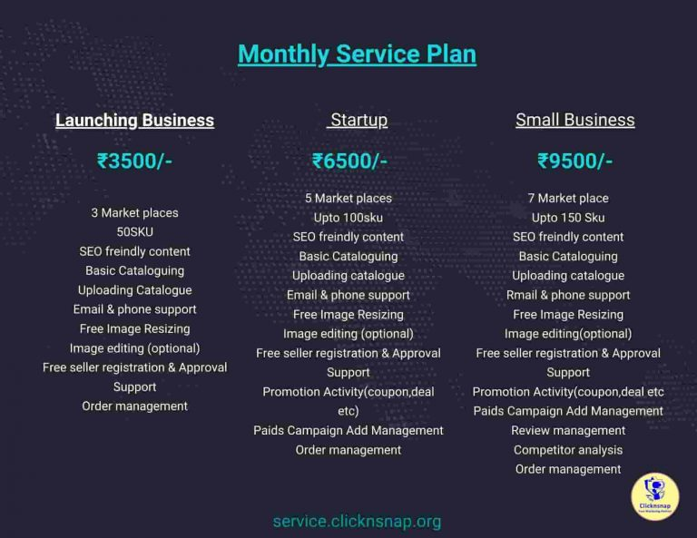 Clicknsnap_org - Ecom Monthly service Plan
